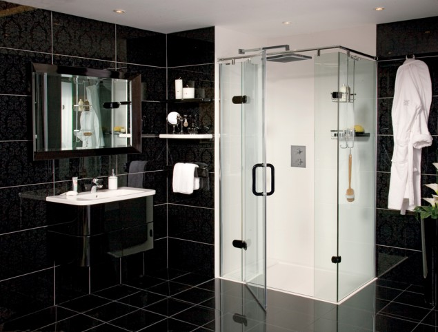 Get The Look Create A Dramatic Bathroom Roman Showers Blog