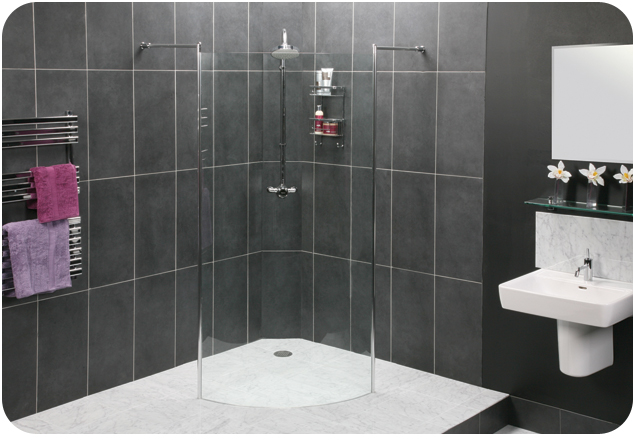 Orbital Curved Wetroom Panel
