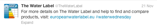 Water Wednesday - Water Label 1