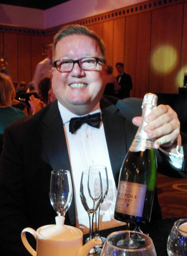 The award sponsors sent over a bottle of fizz to help us celebrate