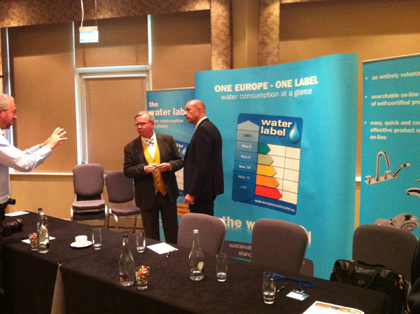Tim Pollard of Wolseley and Steve Lee, BMA President