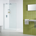 Decem Wetroom Panel & Optional L Return Panel with Exposed Profile