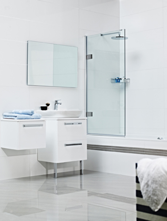 Decem Hinged Bath Screen