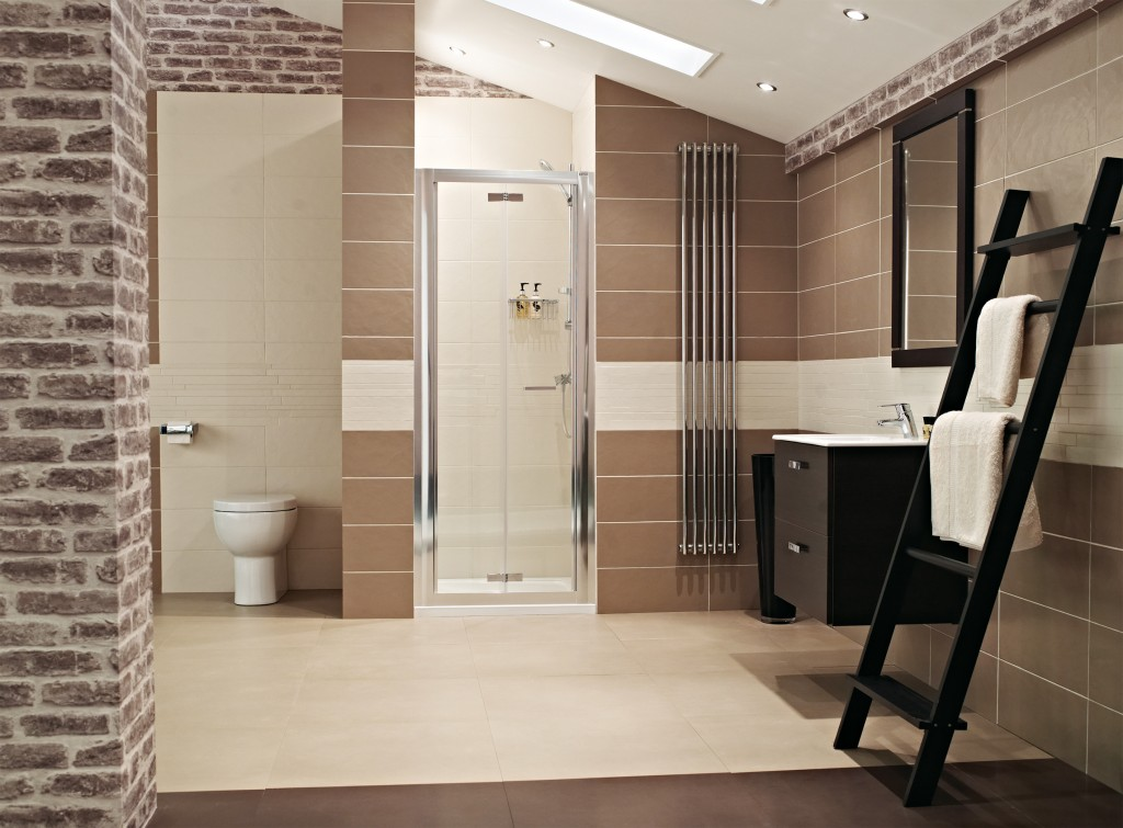 Space saving shower solutions for small bathroom roman for Folding shower for small bathrooms