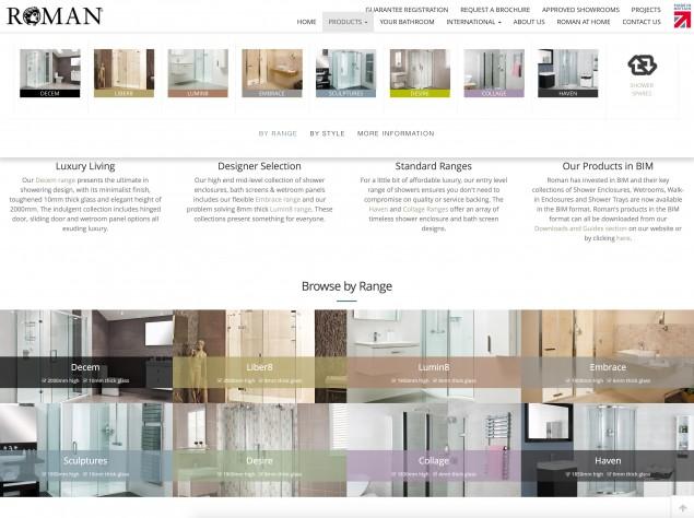 Roman's Range colours on the website
