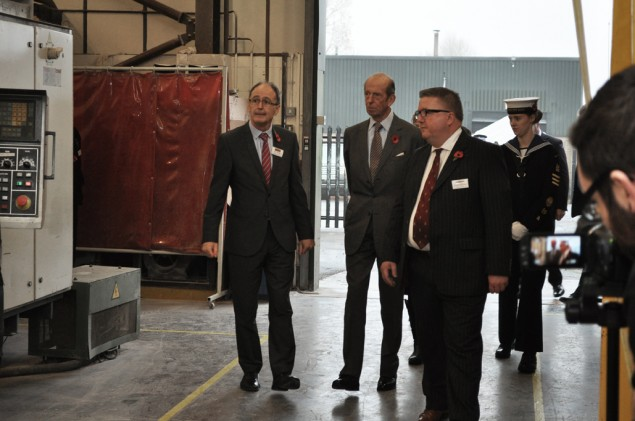 HRH The Duke of Kent in Roman's Tray Plant