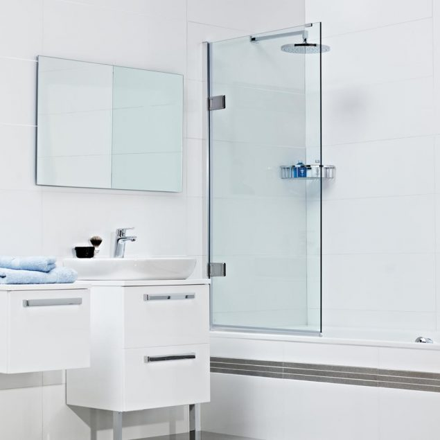 Decem Hinged Bath Screen