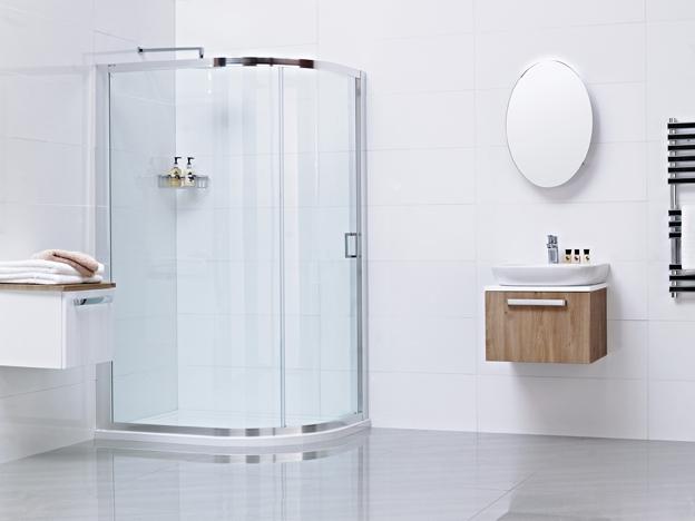 Lumin8 One Door Offset Quadrant Shower Enclosure