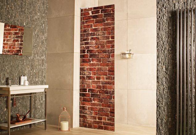 Decem Expressions – Distressed Brick Wetroom Panel