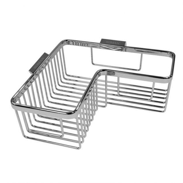 Roman Corner Chrome Shower Basket