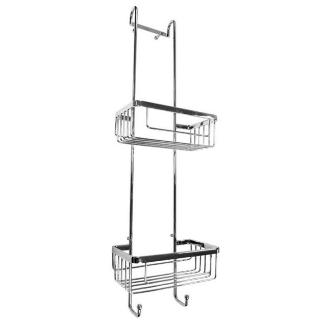 Double Hanging Chrome Shower Basket