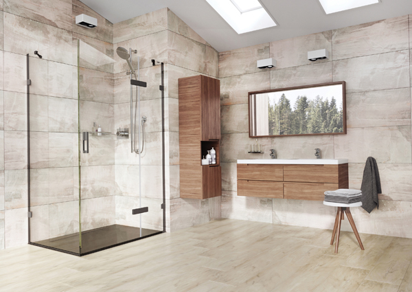 Liber8 Matt Black metal finish Shower Enclosure